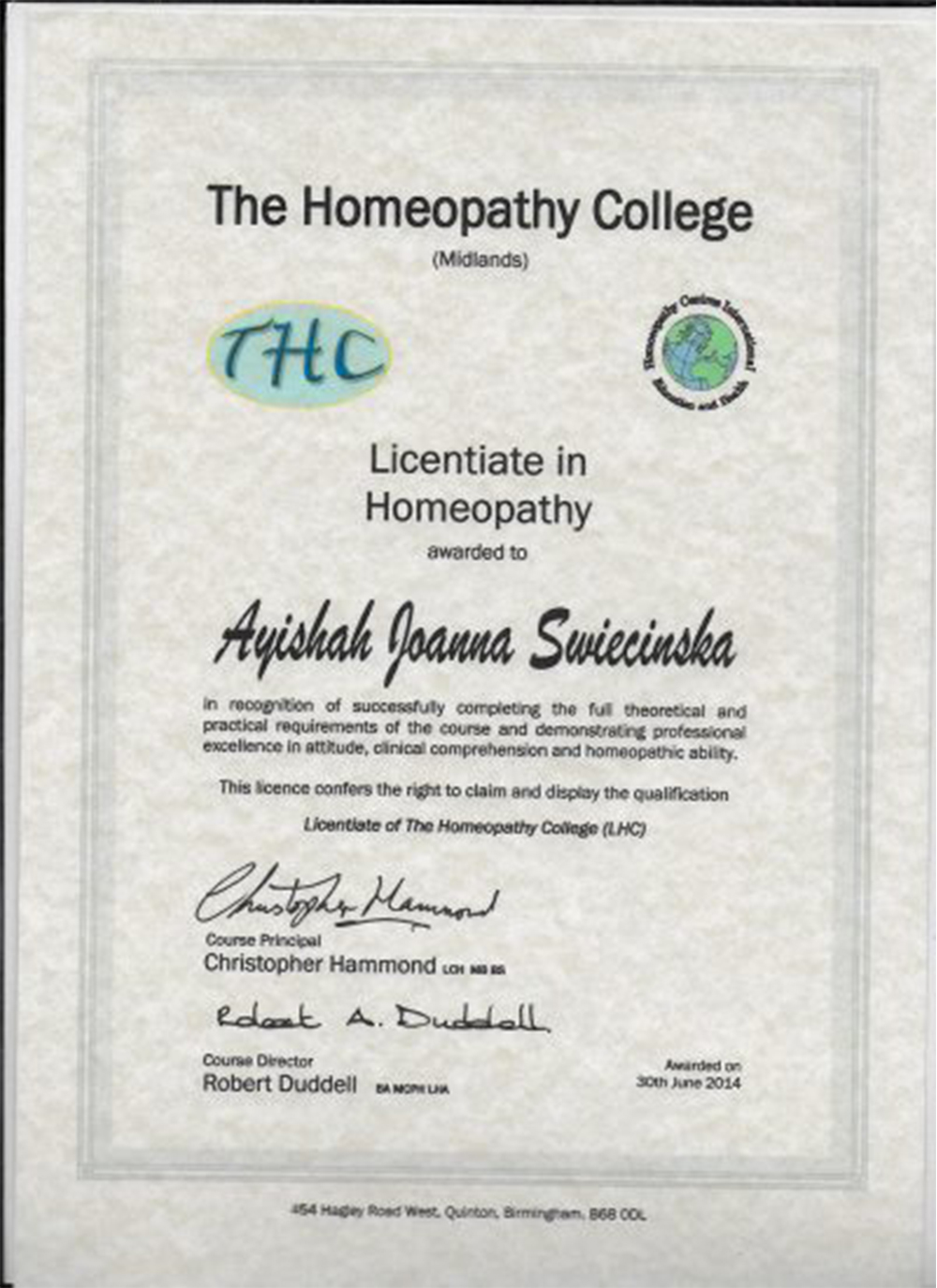 The Homeopathy College